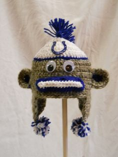 Indianapolis #Colts Sock Monkey Hat