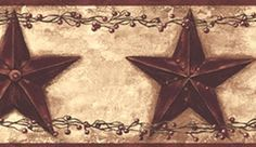 Weathered Barn Stars Wallpaper BorderWestern/Cowboy