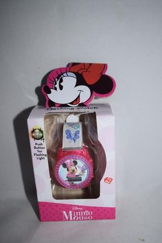Girls Kids Children LCD Display Watch Flashing Lights Minnie Mouse Colorful Bows #Disney #CartoonNovelty