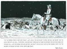 CATTLE DRIVE, part 5, Night Herding (48 pieces)