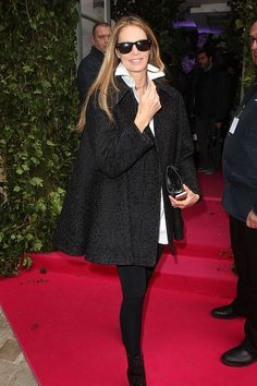 #ElleMacpherson attends the Schiaparelli show as part of Paris Fashion Week Haute Couture Spring/Summer 2014 on January 20, 2014 in Paris, France.