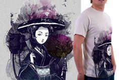 Camiseta Estampa 'Gueixa Samurai' no Camiseteria. Autoria de Bruno Mota.