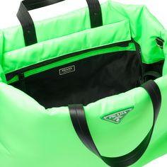 514c1d717024 Fluorescent green medium padded nylon clutch | bags | Green clutch bags, Green  clutches, Bags