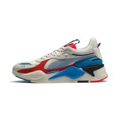 Image 1 of RS-X Reinvention Sneakers, Whisper White-Red Blast, medium Dad Sneakers, Dress With Sneakers, Best Sneakers, Air Max Sneakers, Sneakers Fashion, Pumas Shoes, Girls Shoes, Dad Shoes, Sneaker Bar
