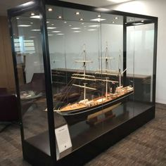 Our custom made display cases and cabinets can be created for the smallest diamond rings, to items as large as a motorbike! This custom designed glass display cabinet was designed to house this impressive beautiful wooden model ship! Museum Display Cases, Glass Display Case, Museum Displays, Glass Showcase, Showcase Design, Living Room Display Cabinet, Antique Display Cabinets, Model Ship Building, Exhibition Stall