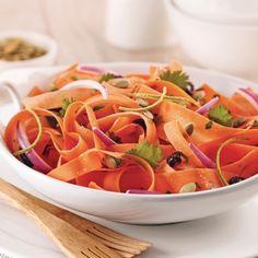 Une salade de rubans de carottes, voilà qui fait changement!