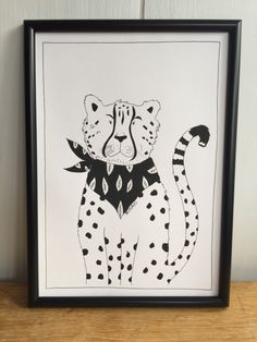 A personal favourite from my Etsy shop https://www.etsy.com/uk/listing/602548059/cheetah-monochrome-print-black-and-white