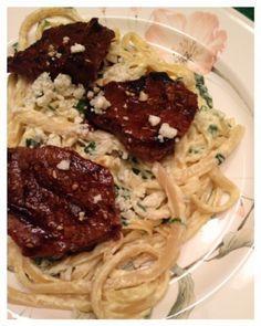 Olive Garden's Steak Gorgonzola Alfredo Pasta. Tastes just like the restaurant!