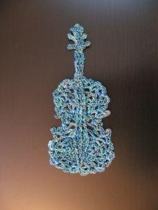 Crochet: Violin Chart.