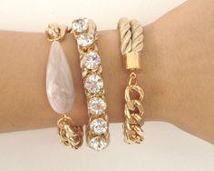 Gold bracelets Southern Curls & Pearls