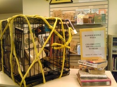 Banned Books Week library display We cannot allow the banning of books!
