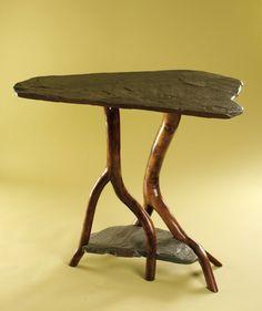 Slate and Aspen side table for AspenStone on Etsy.com