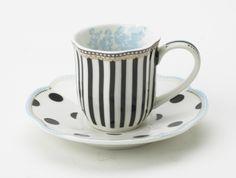 """Toile"" Tea Cup by Lisbeth Dahl Copenhagen Autumn/Winter 13. #LisbethDahlCph #Winter #Toile #GTea #Cup #Dots #Blue #Kitchen"