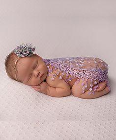 Look at this #zulilyfind! Lavender Lace Wrap & Headband #zulilyfinds