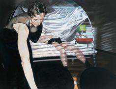 Eric Fischl- Krefeld Projec: Dining Room, Scene 1 (2003): Oil on Linen 89 x 54 inches (226 x 137 cm.)