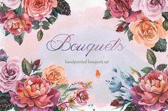 Bouquets, Watercolor collection by SquirrelStudio on @creativemarket