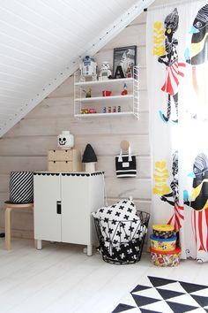 kids room lego batman childrensroom muurame jolla scandinavian home marimekko kulkue ikea plywood ferm living string system black and white cross star wars