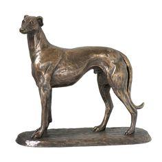 Gus Greyhound Cold Cast Bronze Sculpture by Harriet Glen