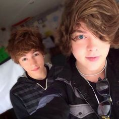 Paul Zimmer and Danny Edge.  They have YouTube channels and I suggest that you check them out.  They are nice, funny, cute, .....and I just love them. Check them out please!