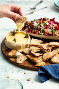Kaasfondue van camembert met vijgensalade - 24Kitchen