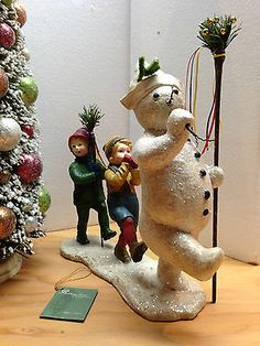 Bethany Lowe - SNOWMAN WITH CHILDREN IN PARADE - NEW Winter 2013