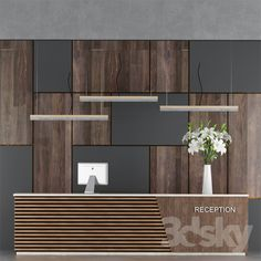 Reception Desk Design - Welcome OyunRet Reception Counter Design, Office Reception Design, Office Table Design, Modern Office Design, Modern Offices, Office Counter Design, Contemporary Office, Office Designs, Reception Furniture