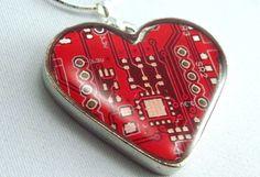 Computer circuit board necklace