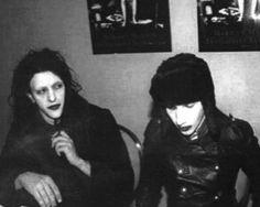 Marilyn Manson and Twiggy