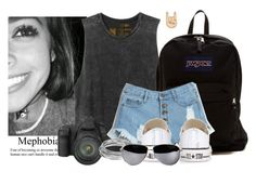 """-walks around Central Park taking pictures- -Isabella"" by woah-1975 ❤ liked on Polyvore featuring beauty, RVCA, Canon, JanSport, Converse and Worthington"