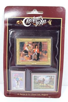 VINTAGE SET 3 FRAMED PICTURES CAROLINE'S HOME DOLLHOUSE MINIATURE 1:12 SCALE NEW | eBay