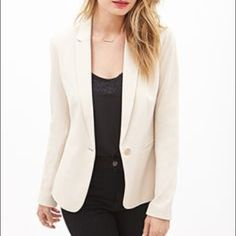 Forever 21 Blazer XS Cute tan blazer with striped sleeves. Pair this with jeans, skirts, dresses & more. Forever 21 Jackets & Coats Blazers
