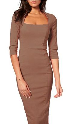 square neckline half sleeve dress