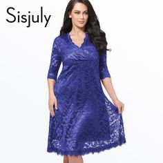 Sisjuly Plus Size Lace Dress Women Sexy V-Neck Half Sleeve A-line Party gown Knee-Length large size dress Plus Size Lace Dresses $29.39   => Save up to 60% and Free Shipping => Order Now! #fashion #woman #shop #diy  http://www.greatdress.net/product/sisjuly-plus-size-lace-dress-women-sexy-v-neck-half-sleeve-a-line-party-gown-knee-length-large-size-dress-plus-size-lace-dresses/