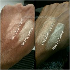 MAC In Extra Dimension Skinfinishes from their Magic of the Night 2015 holiday collection. Oh, Darling and Shaft of Gold. @makeupbykifana