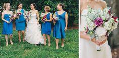 Blue Wedding Party Dresses - Brett & Jessica Photography - NC Wedding Planner - Orangerie Events