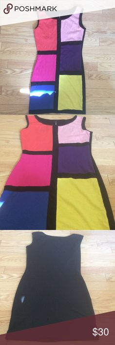 ♦️COLOR BLOCK BOUTIQUE MINI DRESS *NWOT*♦️ COLOR BLOCK  BOUTIQUE MINI DRESS *NWOT* SIZE SMALL. Stored and never worn . 95% Cotton , 5% Spandex  MilkyWay Dresses Mini