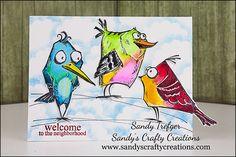 Color me Crazy with the Tim Holtz Crazy Birds! » Sandy's Crafty ...