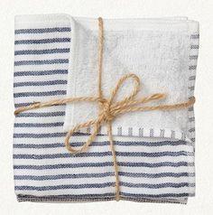 Bath: Striped Washcloths at Terrain : Remodelista
