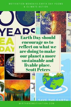 Motivation 2020: Earth Day Poems & Climate Action | Mirth and Motivation #earthday Earth Day Poems, Bucket List Quotes, International Day Of Happiness, Fb Share, Poetry Day, Motivational Quotes, Inspirational Quotes, Womens Wellness, Climate Action