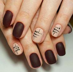 Nice and simple design - mate color Diy Nails, Cute Nails, Pretty Nails, Classy Nail Designs, Nail Art Designs, Nails Design, 3d Nail Art, Nail Arts, Posh Nails