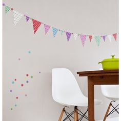 Kids Bedroom Bunting maximilian wallpaper - pink carousel horse and bunting | w is for