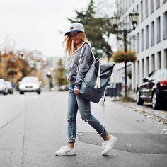 Get this look: http://lb.nu/look/8481121  More looks by Romina  M.: http://lb.nu/romina  Items in this look:  Tommy Hilfiger Cap, Mulinu Classic Albert Bagpack, Fenty Puma Sneakers