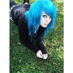 Love haircut ,i wanet n. Goth Hair, Emo Hair, Grunge Hair, Mint Hair, Green Hair, Blue Hair, Cute Emo Girls, Hot Goth Girls, Side Bangs Hairstyles