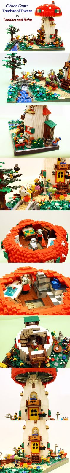Gibson Goats Toadstool Tavern #LEGO #Fabuland #Tavern http://www.Adopt-A-Brick.com/