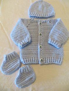 Baby boy sweater set blue sweater set baby boy sweater by KEL2D2, $35.00