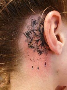 Tattoo uploaded by Roy Olislagers Cool Chest Tattoos, Dope Tattoos, Body Art Tattoos, Hand Tattoos, Small Tattoos, Tattoos Skull, Back Ear Tattoo, Behind Ear Tattoos, Behind Ear Tattoo Small
