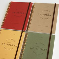 www.invitel.us - Le Spiral 2012 Six Month Planner - love this - especially using washi tape to embellish