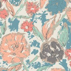 o-o Soft cream peach floral crib bedding Cream baby bedding Pastel floral crib sheet Boppy cover Bab Tapestry Fabric, Tapestry Design, Tapestry Weaving, Fabric Art, Quilting Fabric, Cotton Fabric, Floral Crib Sheet, Boppy Cover, Baby Girl Bedding