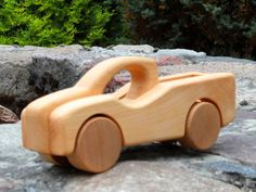 Pick-Up Jeep / Wooden Toy/ Fruit Wood from Desdeco Wooden Toys by DaWanda.com