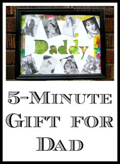 Have five minutes and some of your child& artwork? Then you can make this adorable gift for Father& Day! Diy Gifts For Dad, Daddy Gifts, Gifts For Father, Homemade Gifts, Cute Gifts, Crafts To Do, Crafts For Kids, Trending Crafts, Daddy Day